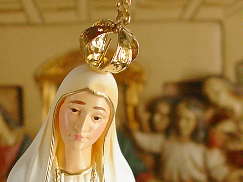 Madonna with golden crown