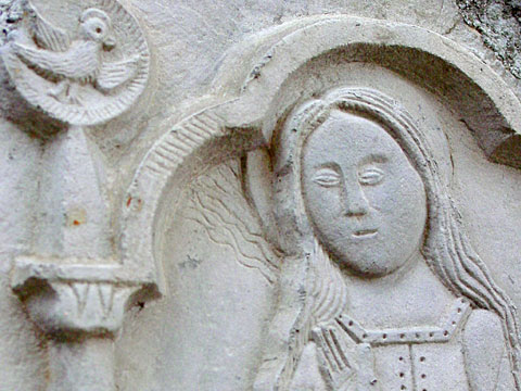 Madonna carved out of stone