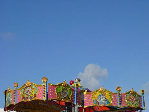 Sky over a merry-go-round