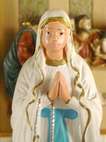 Madonna with rosary