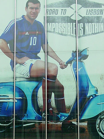 Zinedine Zidane on Vespa
