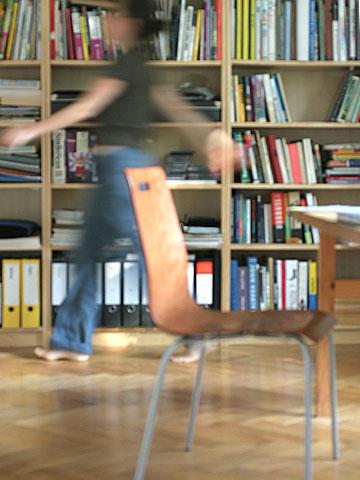 Bookworm walking