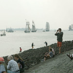 ships on river elbe