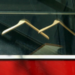 Clothes hanger  in a window