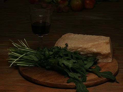 Wine, Parmesan and Rocket