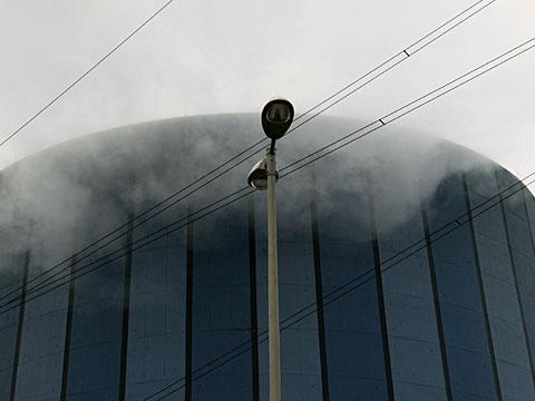 steaming chimney