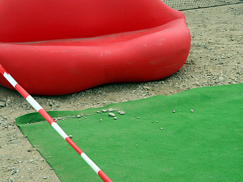 Plastic Sofa and Synthetic Turf