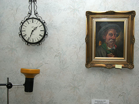 Clock, Lamp and Picture