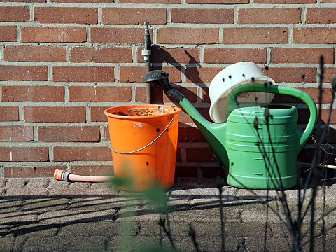Bucket and Watering Can