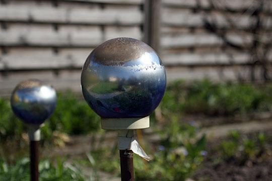 Silver Glass Gazing Ball